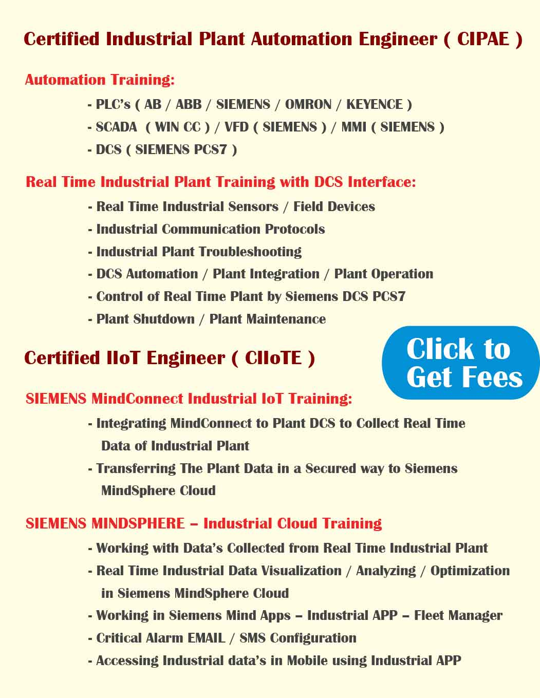 PLC Training In Chennai | Industrial | Process Automation
